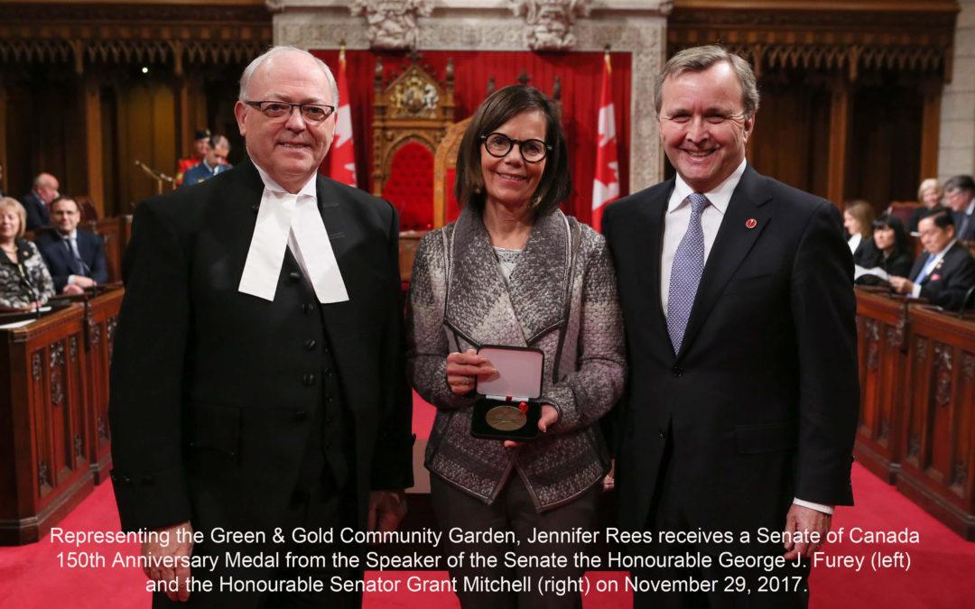 Green & Gold Garden Receives Senate of Canada 150 Medal!
