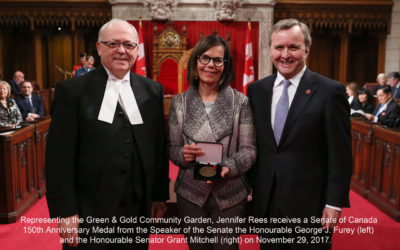 Green & Gold Garden Receives Senate of Canada 150 Medal!