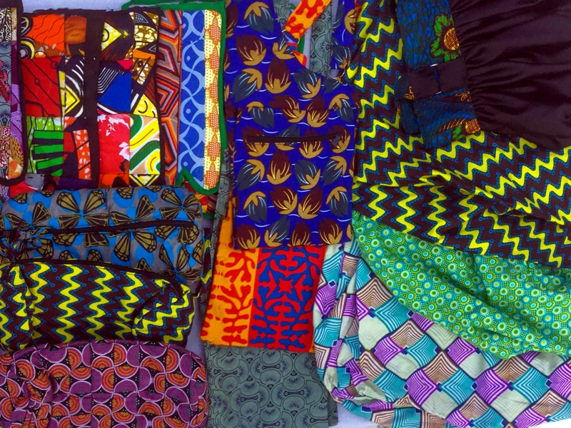 A selection of handicrafts made by the women of Tubahumurize